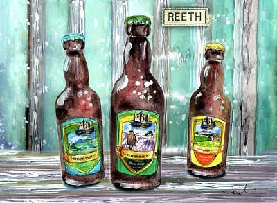 Painting - Wensleydale Brewery Beer In Reeth by Miki De Goodaboom