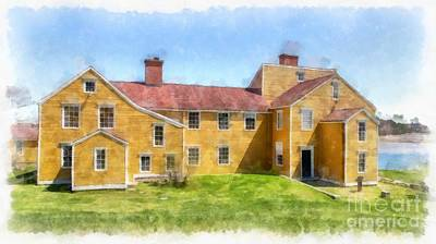 Digital Art - Wentworth Coolidge Mansion Watercolor by Edward Fielding