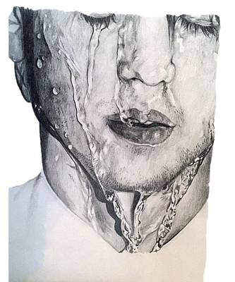 Burrowing Drawing - Wentworth Miller by Zoe Brittle