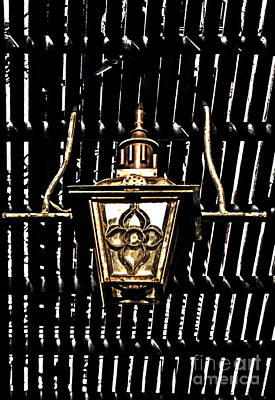 Gas Lamp Photograph - Wrought Iron Gas Lamp by Frances Ann Hattier