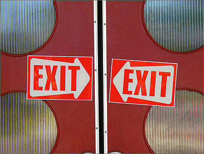 Photograph - Exits Exist by Ross Odom