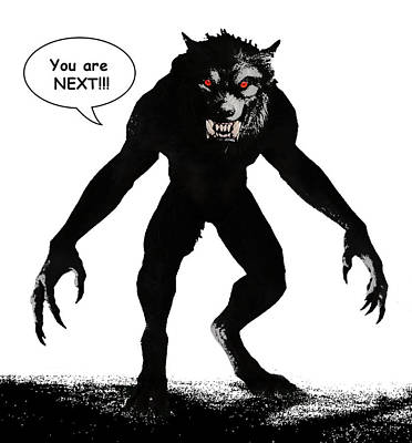 Digital Art - Werewolf Comic Illustration 1 by Solomon Barroa