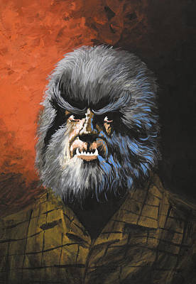 Portraits Painting - Werewolf by Harold Shull