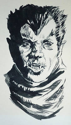 Painting - Werewolf Of London by Bryan Bustard