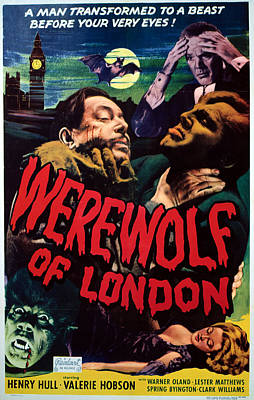 Horror Fantasy Movies Photograph - Werewolf Of London, Warner Oland, Henry by Everett