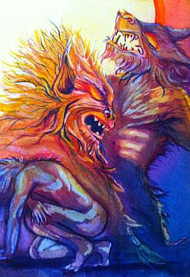 Painting - Werewolf by Starr Weems