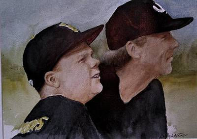 Painting - Wes And Dad by Bobby Walters