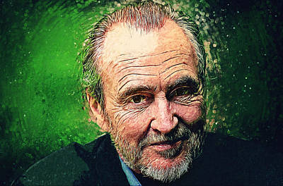 The Hills Digital Art - Wes Craven by Taylan Apukovska