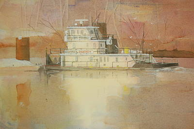 Ohio River Painting - Wes Mcdonald by Robert Yonke