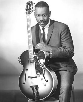 Gibson Photograph - Wes Montgomery, Early 1960s by Everett
