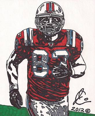 Wes Welker Art Print by Jeremiah Colley