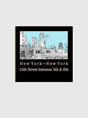 Streetscape Drawing - West 12th Street, New York City by James Lewis Hamilton