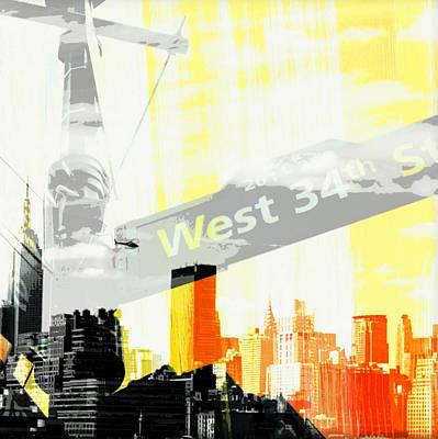 Ny Skyline Mixed Media - West 34th Street by Brandi Fitzgerald
