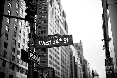 Photograph - West 34th Street by John Rizzuto