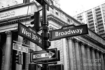 West 36th Street And Broadway Art Print by John Rizzuto