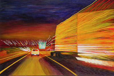 Painting - West Bound Route 66 by Garry McMichael