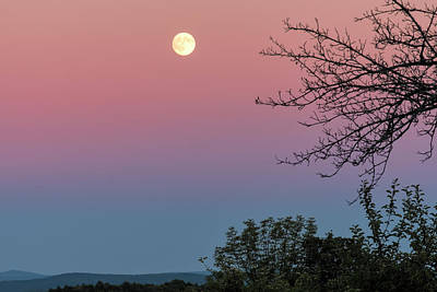 Hard Cider Wall Art - Photograph - West Brattleboro Full Moon by Tom Singleton