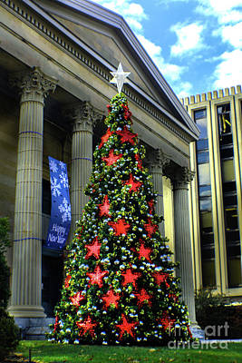 Photograph - West Chester Christmas Tree by Sandy Moulder