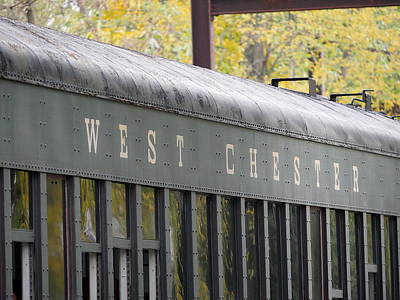 Photograph - West Chester Railroad - Passenger Car by Richard Reeve