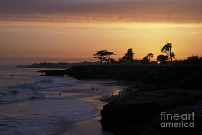Photograph - West Cliff At Sunset by Stan and Anne Foster
