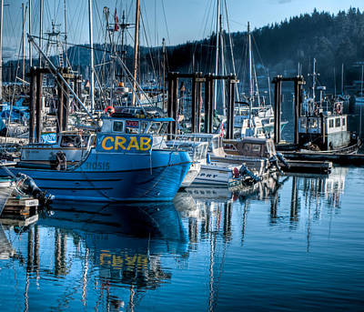 West Coast Crab Boat Art Print by R J Ruppenthal