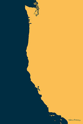 West Coast - Golden Yellow On Cyprus  Original