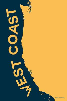 West Coast Pop Art - Golden Yellow On Cyprus  Original