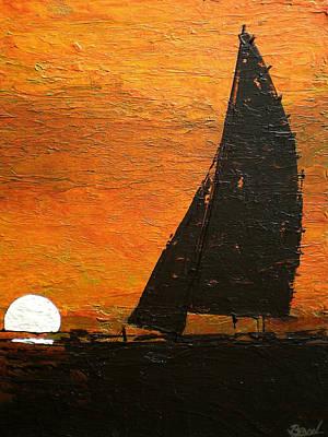 West Coast Sunset Art Print by Bill Brown