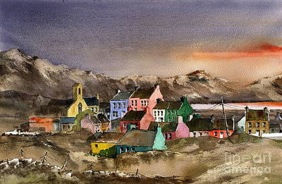 Painting - West Cork ... Beara.. Eyeries Sunset by Val Byrne