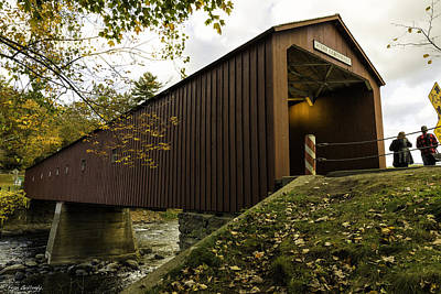Photograph - West Cornwall Covered Bridge by Fran Gallogly