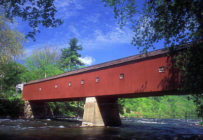 Photograph - West Cornwall Covered Bridge by John Burk