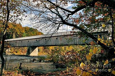 West Dummerston Bridge Art Print by DJ Florek