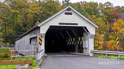 Photograph - West Dummerston Covered Bridge by Scenic Vermont Photography