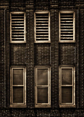Walker Digital Art Photograph - West Dundee Village Hall Tower Windows And Vents by Roger Passman