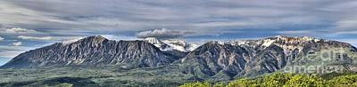 Photograph - West Elk Colorado Mountain Range by Adam Jewell