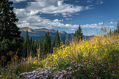 Photograph - West Elk Mountain Range by Michael J Bauer