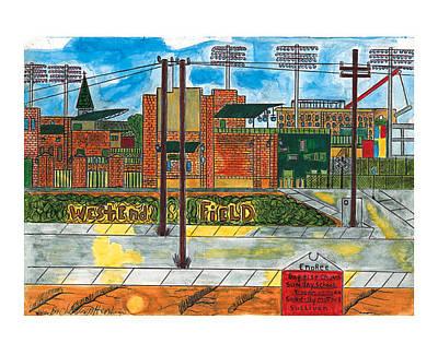 Shoeless Joe Painting - West End Field by Charles Henderson
