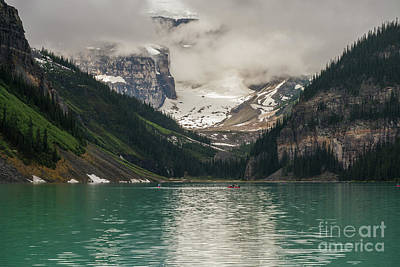 Photograph - West End Of Lake Louise by Mike Reid