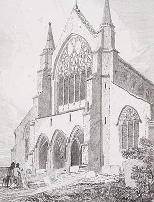 Painting - West End Of Snettisham Church, Norfolk, 1815, By John Cotman by Celestial Images