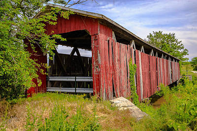 Music Royalty-Free and Rights-Managed Images - West Engle Mill Road Covered Bridge by Jack R Perry