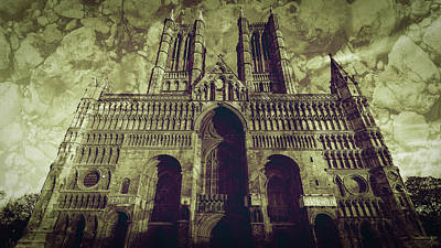 Photograph - West Facade Of Lincoln Cathedral Fine Art A by Jacek Wojnarowski