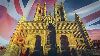 Photograph - West Facade Of Lincoln Cathedral Fine Art B by Jacek Wojnarowski