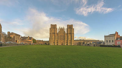 Photograph - West Facade Of Wells Cathedral by Jacek Wojnarowski