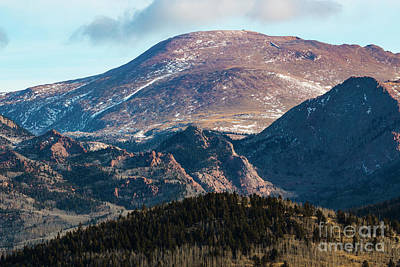 Photograph - West Face Of Pikes Peak In Winter by Steve Krull