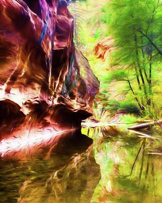 West Fork Of Oak Creek Canyon Art Print