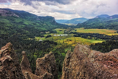 West Fork Photograph - West Fork Valley View by Loree Johnson