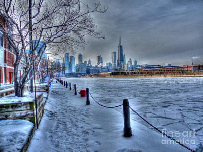 West From Navy Pier Art Print by David Bearden
