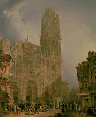 West Front Of Notre Dame Print by David Roberts