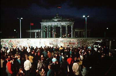 West Germans Hold A Vigil Art Print