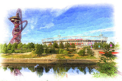 Photograph - West Ham Olympic Stadium And The Arcelormittal Orbit Art by David Pyatt